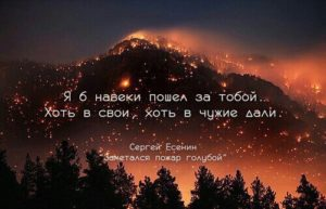 Стих Заметался пожар голубой