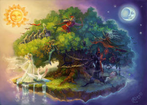 Стих У лукоморья дуб зеленый А. С. Пушкин